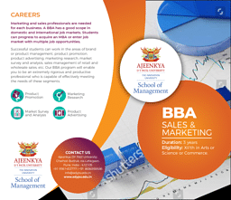 BBA (Sales and Marketing) Brochure
