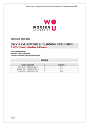B.Com Banking and Finance Brochure