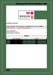 B.Des Industrial Design Brochure