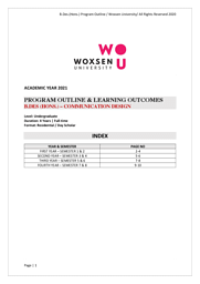 B.Des Communication Design Brochure
