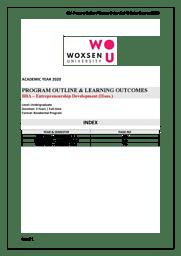 BBA Entrepreneurship Brochure