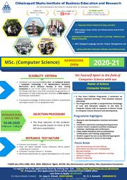 M.Sc CS Brochure
