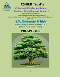 M.Sc Environment & Safety Brochure