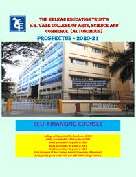 Prospectus SFC courses -2020-2021