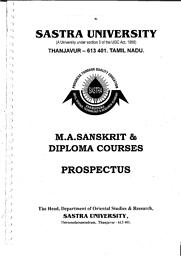 MA Sanskrit and Diploma courses Prospectus