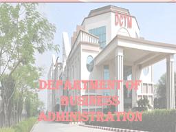 DBA - Brochure