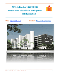 M.Tech Artificial Intelligence Brochure
