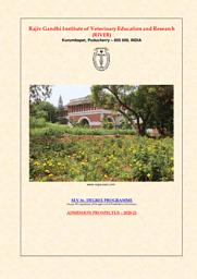 MVSc_Admission Brochure