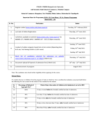 BBA/ B.Com Admission Handout
