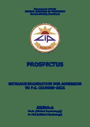Prospectus- Ph.D. / M.Phil (Clinical Psychology)