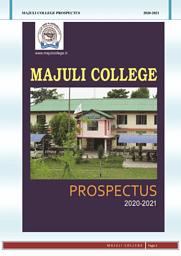 Majuli College Prospectus 2020-2021