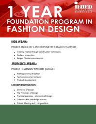 Fashion Design Brochure