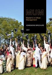 Master in Urban Management Brochure