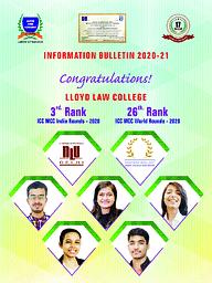 LLyod Law College  brochure 2020- 21