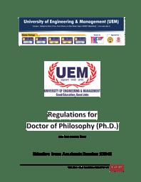 UEM Jaipur Ph.D Brochure