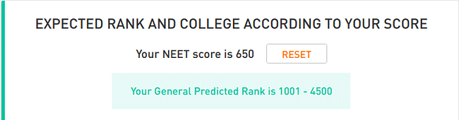 NEET Rank Predictor Example