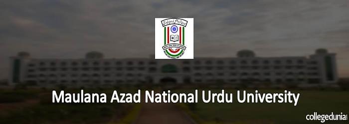 Maulana Azad National Urdu University 2015 Admission Notification