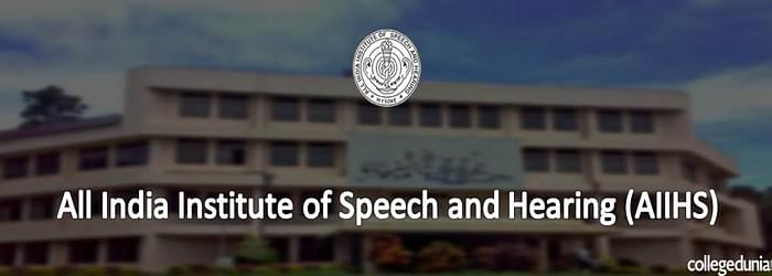 All Indian Institute of Speech Hearing Mysore Admissions 2015 Notification