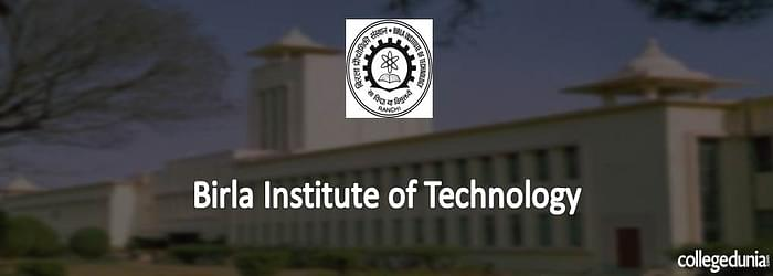 BIT Mesra Integrated M.Sc. Programs 2015 Admission Notification