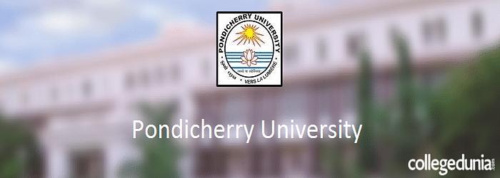 Pondicherry University 2015 PG & Ph.D.  Admission Alert