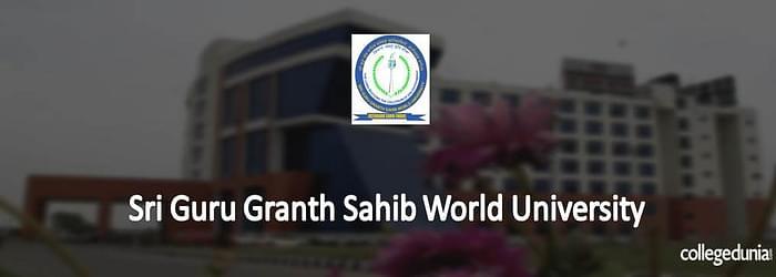 Sri Guru Granth Sahib World University Ph.D. Admissions 2015 Notification