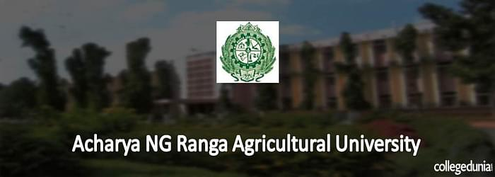Acharya NG Ranga Agricultural University (ANGRAU) PG Courses Admission 2015 Notification