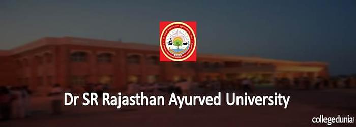 Dr. SR Rajasthan Ayurveda University Jodhpur PAT PHT PUT BNYS Courses Admission 2015 Notification