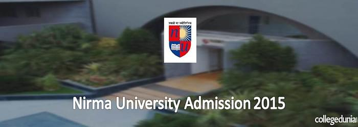 Nirma University Integrated BBA MBA 2015 Admission Alert