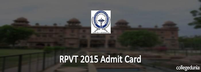 RPVT 2015 Admit Card Alert