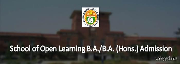 School of Open Learning B.A./B.A. (Hons.) Admission 2015