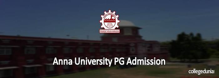 Anna University PG Admissions 2015