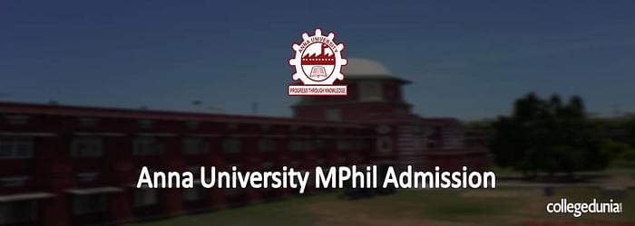 Anna University M.Phil. Admission 2015