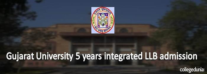 Gujarat University 5 Years integrated LLB Programme Admission