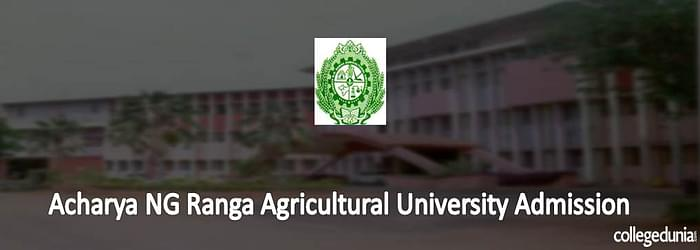 Acharya NG Ranga Agricultural University Admission 2015 Notification for UG Courses