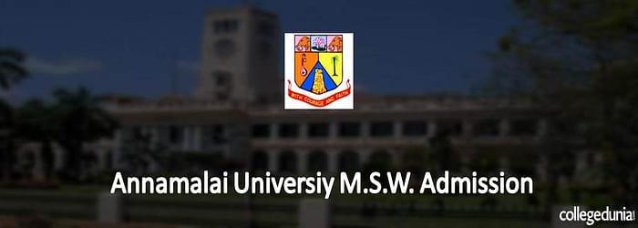 Annamalai University M.S.W. Admission 2015