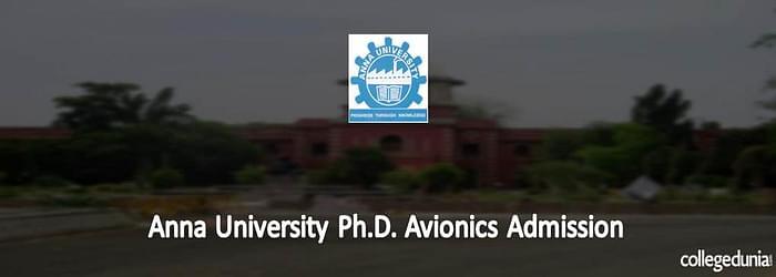 Anna University Ph.D. Avionics Admission 2015