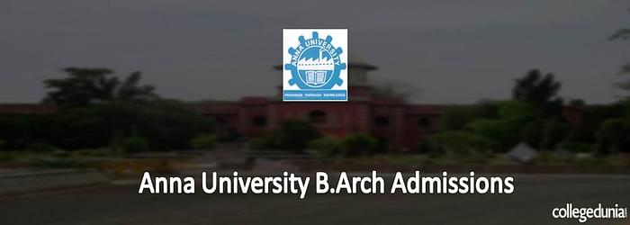 Anna University B. Arch Admissions 2015