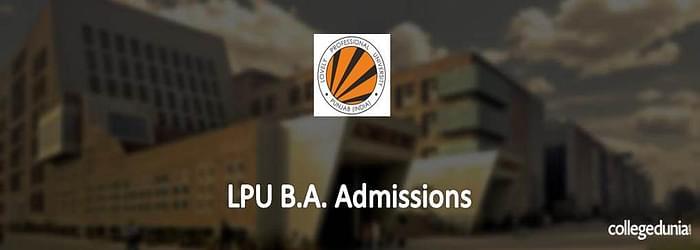 LPU BA Admissions 2015