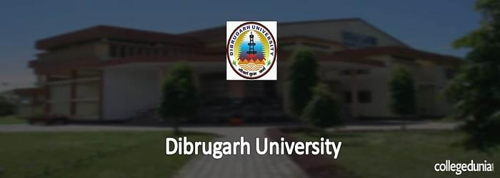 Dibrugarh University M.Sc. Integrated Admission 2015 Notification