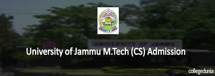 University of Jammu M.Tech (CS) Admission 2015 Notification