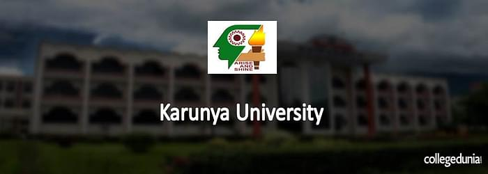 Karunya University Post Graduate Programmes Admission 2015 Notification