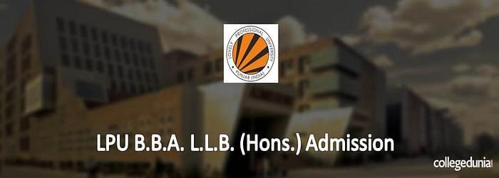LPU B.B.A. L.L.B. (Hons.) Admission 2015