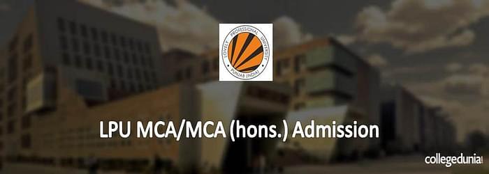 LPU MCA/MCA (hons.) Admission