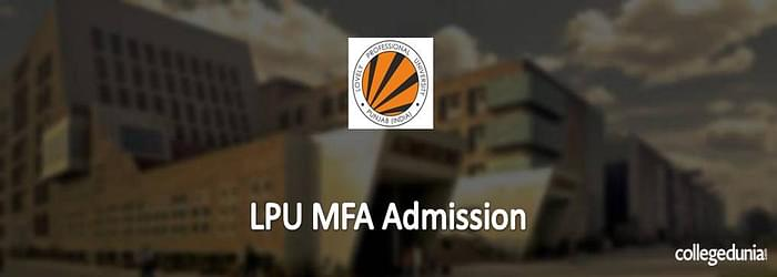 LPU MFA Admission 2015