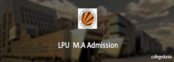LPU M.A. Admission