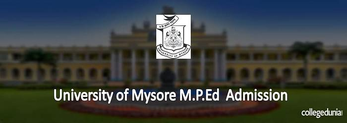University of Mysore M.P.Ed Admission