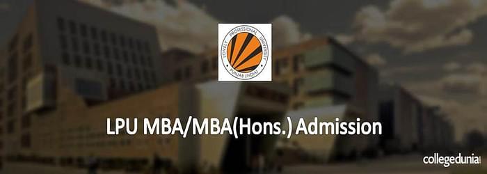 LPU MBA/MBA (Hons.) Admission