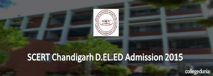 State Council of Education Research and Training, Chandigarh  D.El.Ed Admission Notification