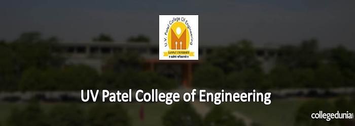 UV Patel College of Engineering M.Tech Admission 2015 Notification