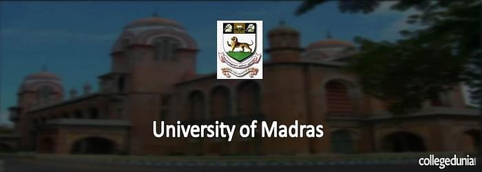 University of Madras 2015 Admission Notification for M.A.
